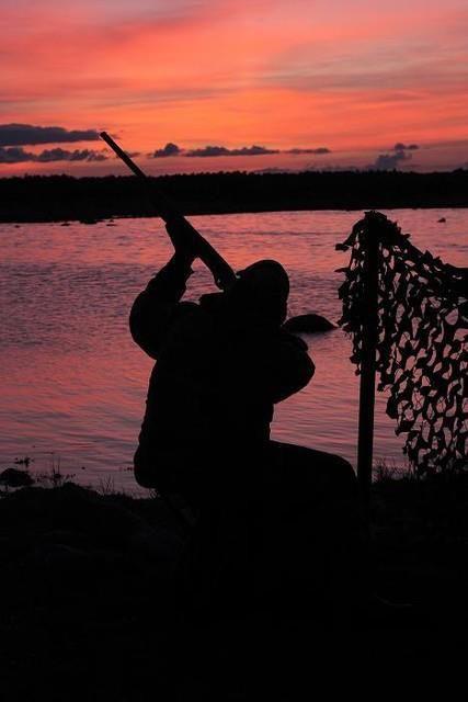 Chasseur en voyage de chasse en Suède