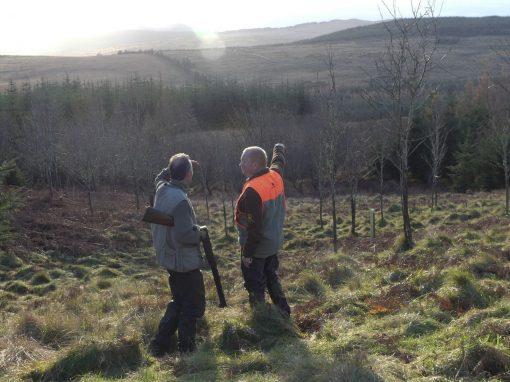 chasseurs en Écosse